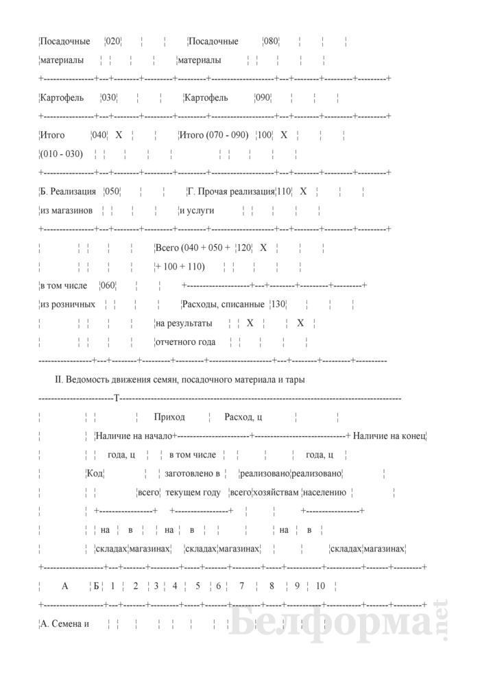 Отчет по заготовке и реализации семян и посадочного материала. 32-АПК. Страница 2