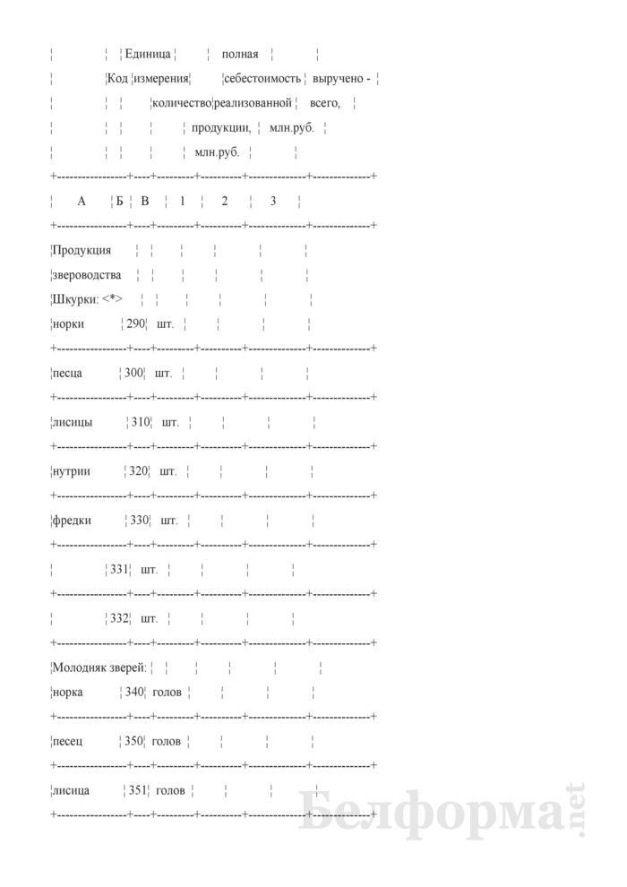 Отчет по звероводству (Форма 22-АПК). Страница 5
