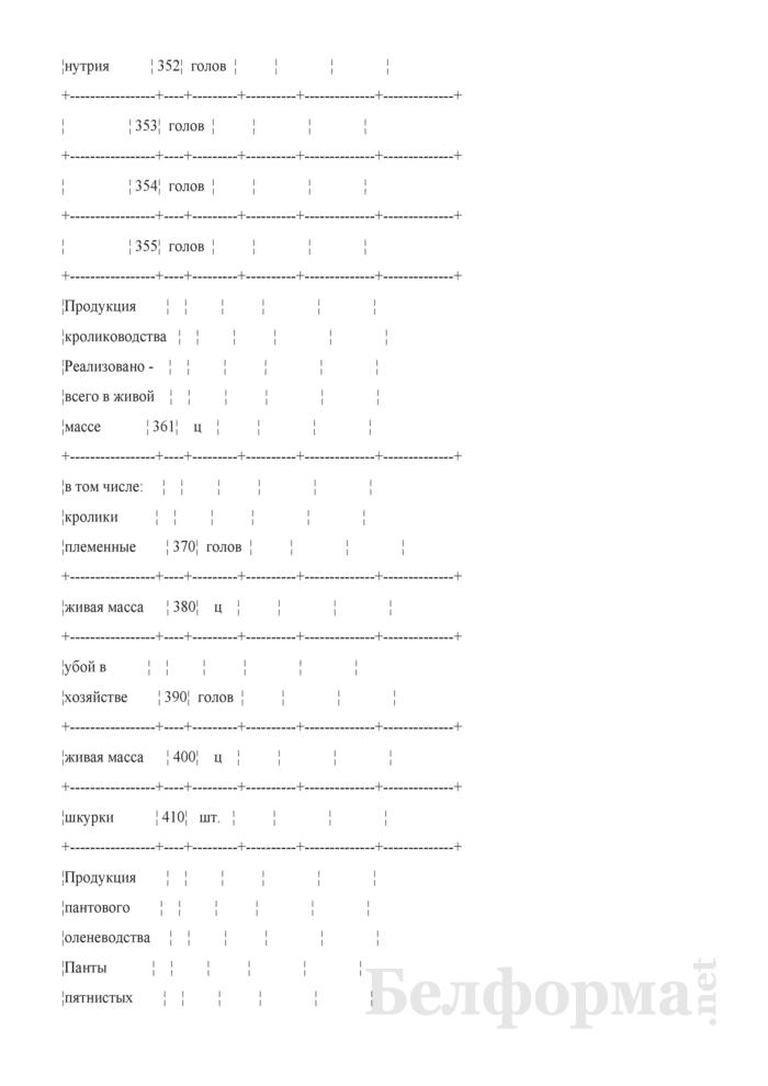 Отчет по звероводству (Форма 22-АПК). Страница 6