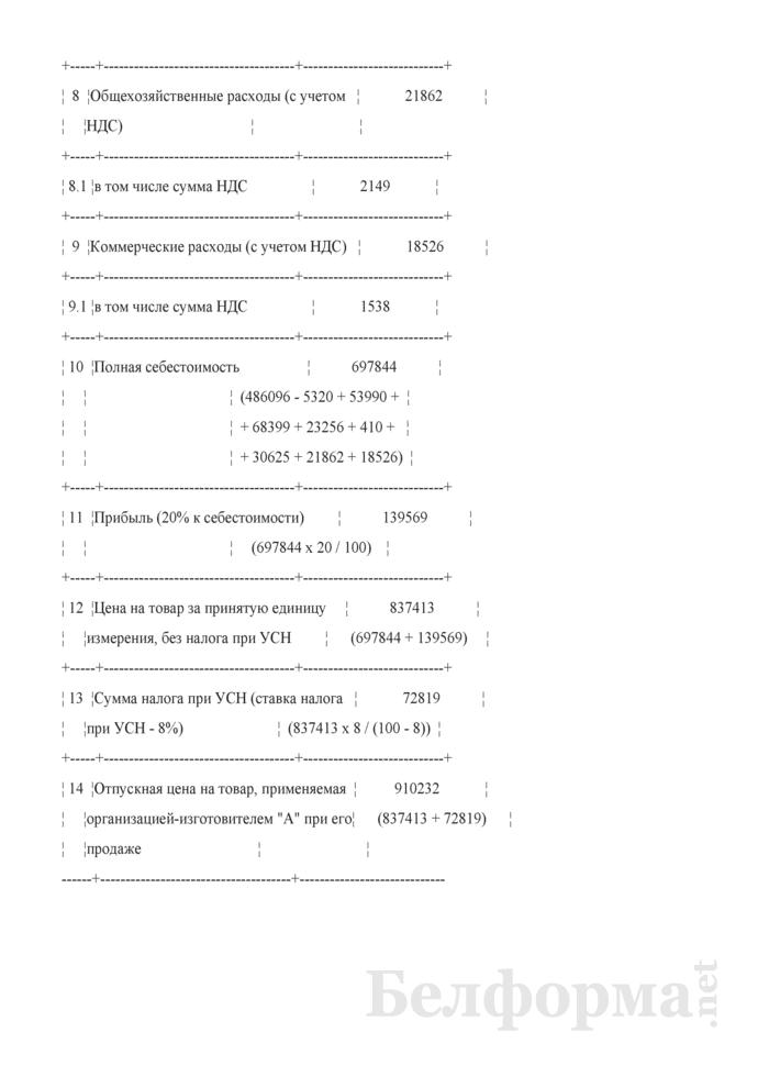 Порядок формирования отпускных цен на товары при применении организациями-изготовителями УСН с уплатой НДС (Примеры). Страница 5