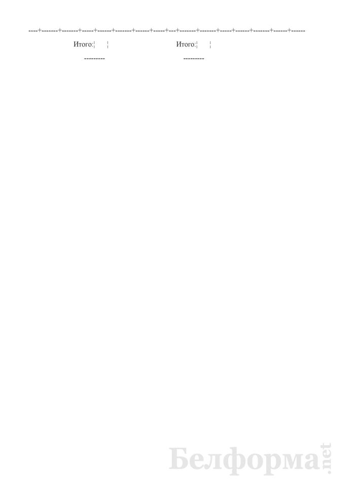 Приемо-сдаточная накладная на готовую продукцию кондитерского производства (Форма № П-9а (хлеб)). Страница 2