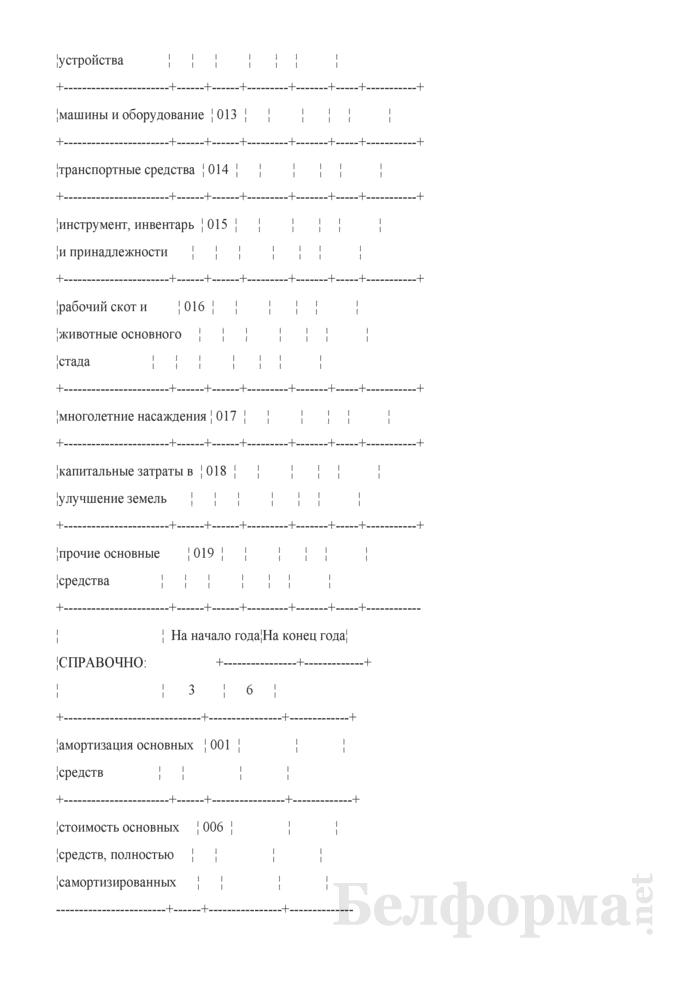 Приложение к бухгалтерскому балансу (форма 5) (для организаций системы Минсельхозпрода). Страница 2