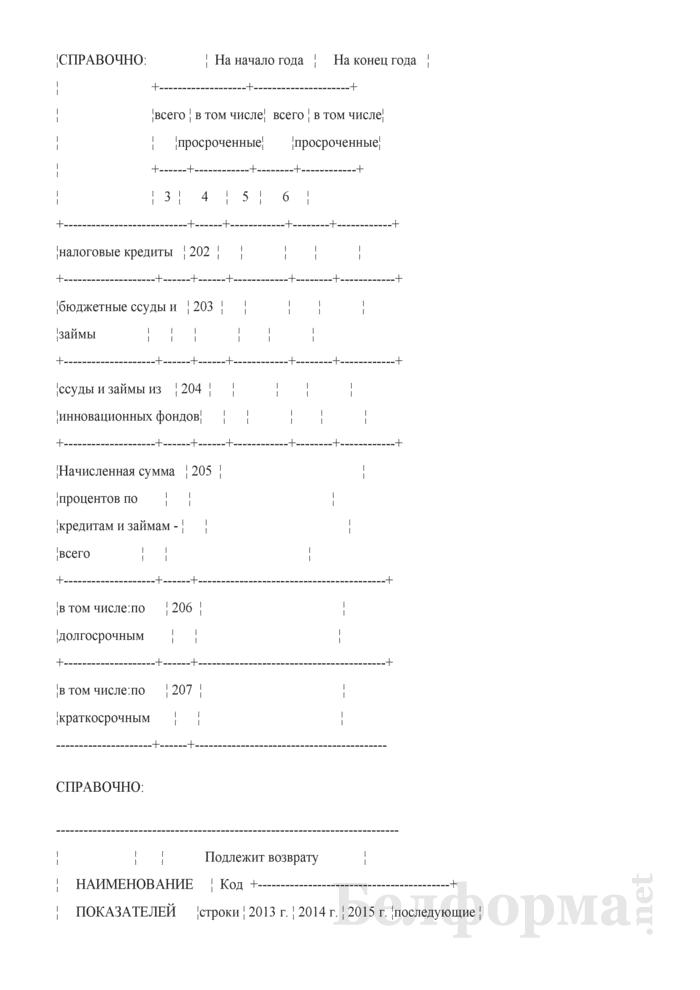 Приложение к бухгалтерскому балансу (форма 5) (для организаций системы Минсельхозпрода). Страница 8