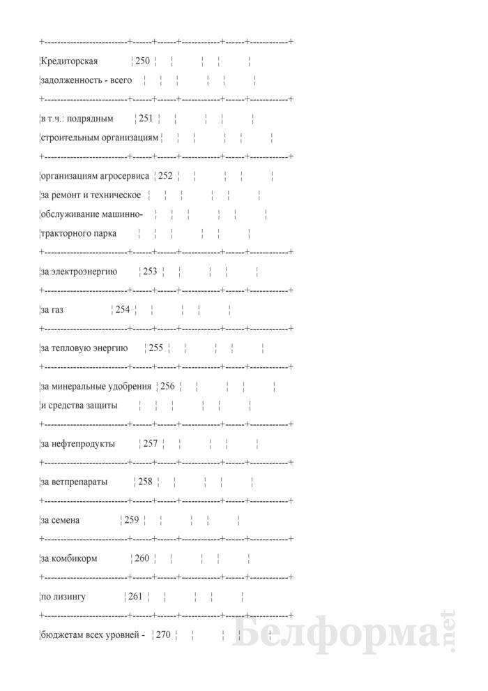 Приложение к бухгалтерскому балансу (форма 5) (для организаций системы Минсельхозпрода). Страница 10