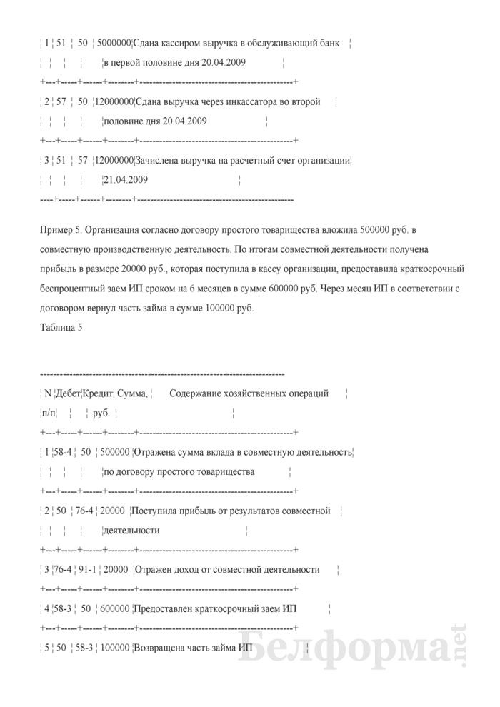 Примеры записей в бухгалтерском учете. Страница 4