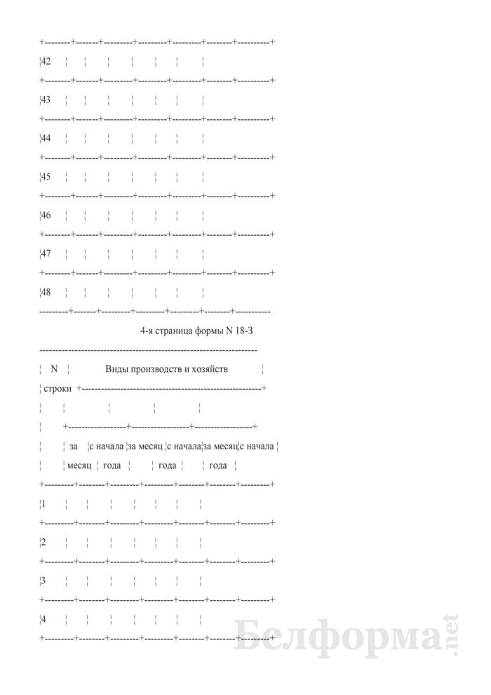Производственный отчет по прочим производствам и хозяйствам. Форма № 18-З. Страница 8