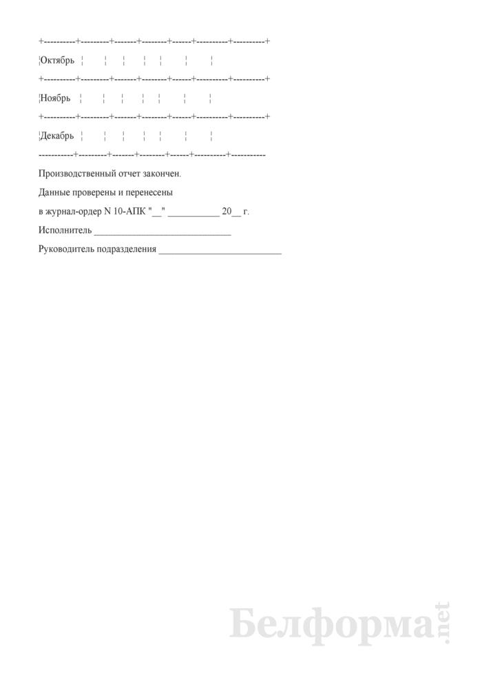 Производственный отчет по промышленным производствам. Форма № 18-Б. Страница 19