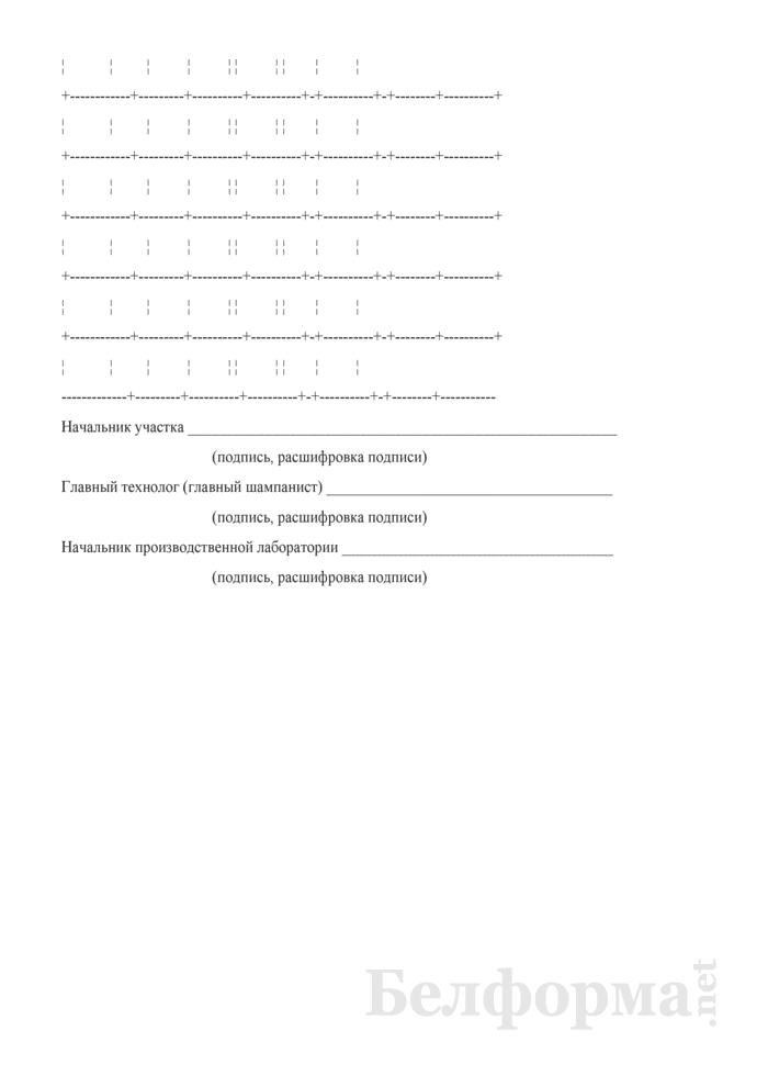 Производственный отчет по участку внешнего оформления продукции (Форма П-40 (игристое)). Страница 4