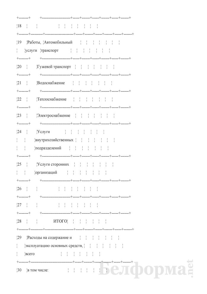 Производственный отчет по вспомогательным производствам, содержанию и эксплуатации машин и оборудования. Форма № 18-В. Страница 3