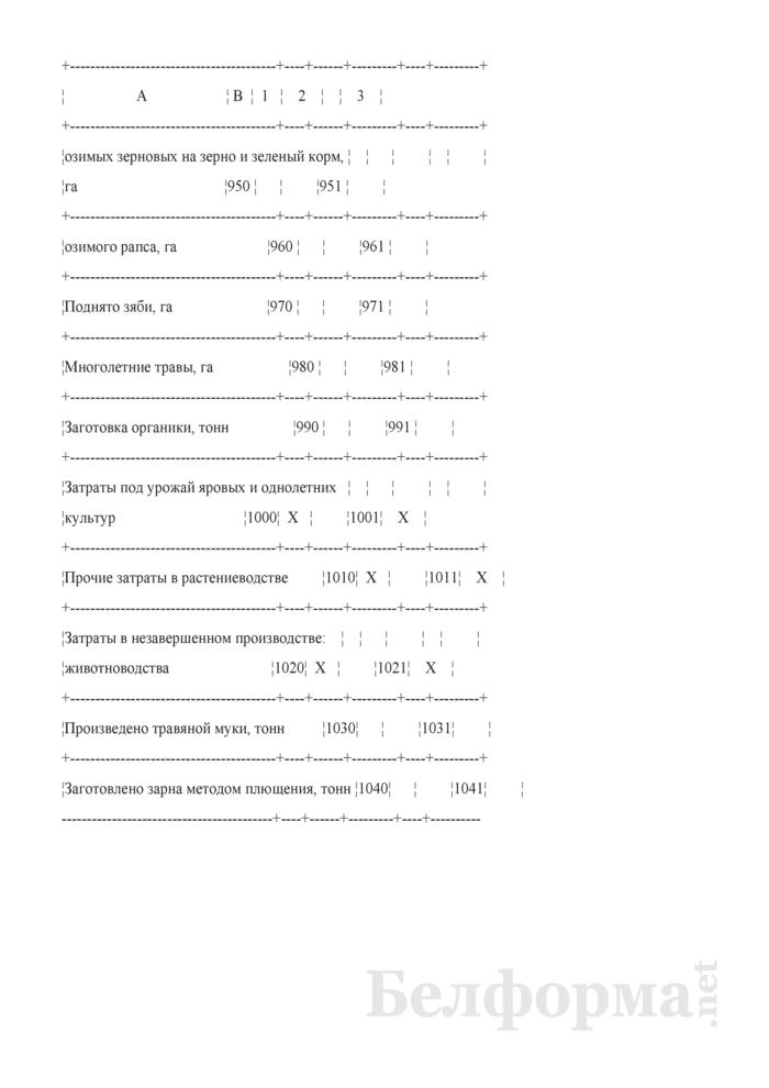 Производство и себестоимость продукции растениеводства (Форма 9-АПК). Страница 11