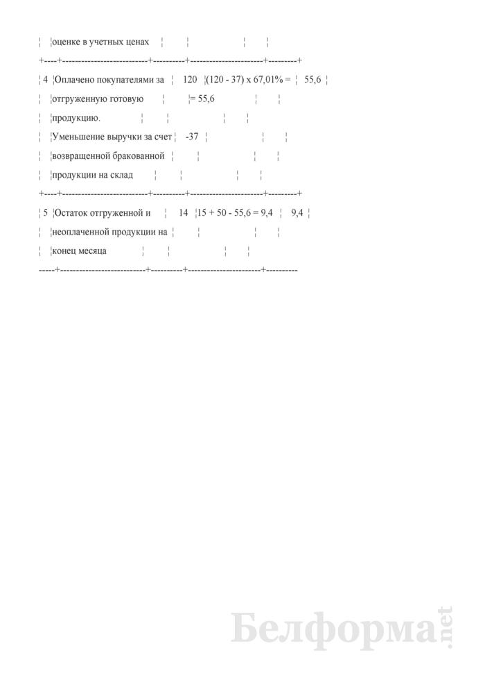 Расчет фактической себестоимости отгруженной и реализованной продукции (Пример). Страница 3