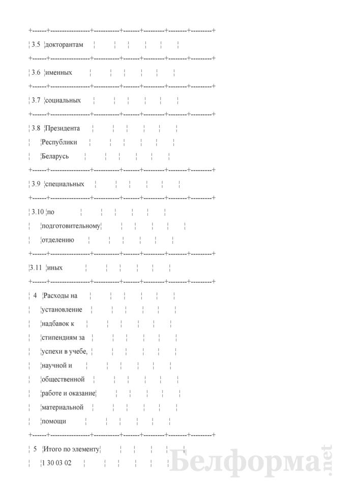 """Расчет расходов по элементу 1 30 03 02 """"Стипендии"""" для обучающихся. Страница 7"""