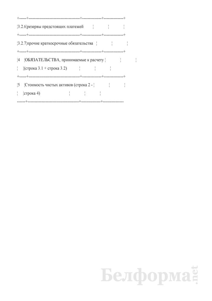 Расчет стоимости чистых активов организации. Страница 4