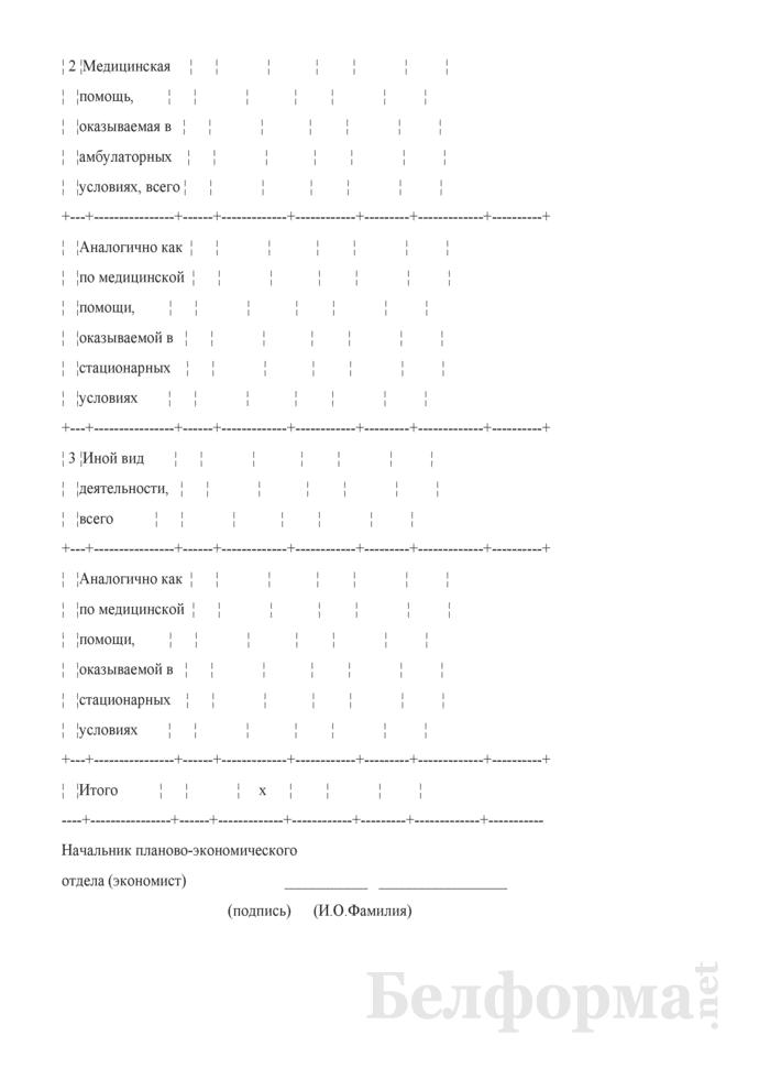 Распределение фонда заработной платы, исчисленного по основным окладам, по условиям оказания медицинской помощи, иным видам деятельности и категориям работников. Страница 3
