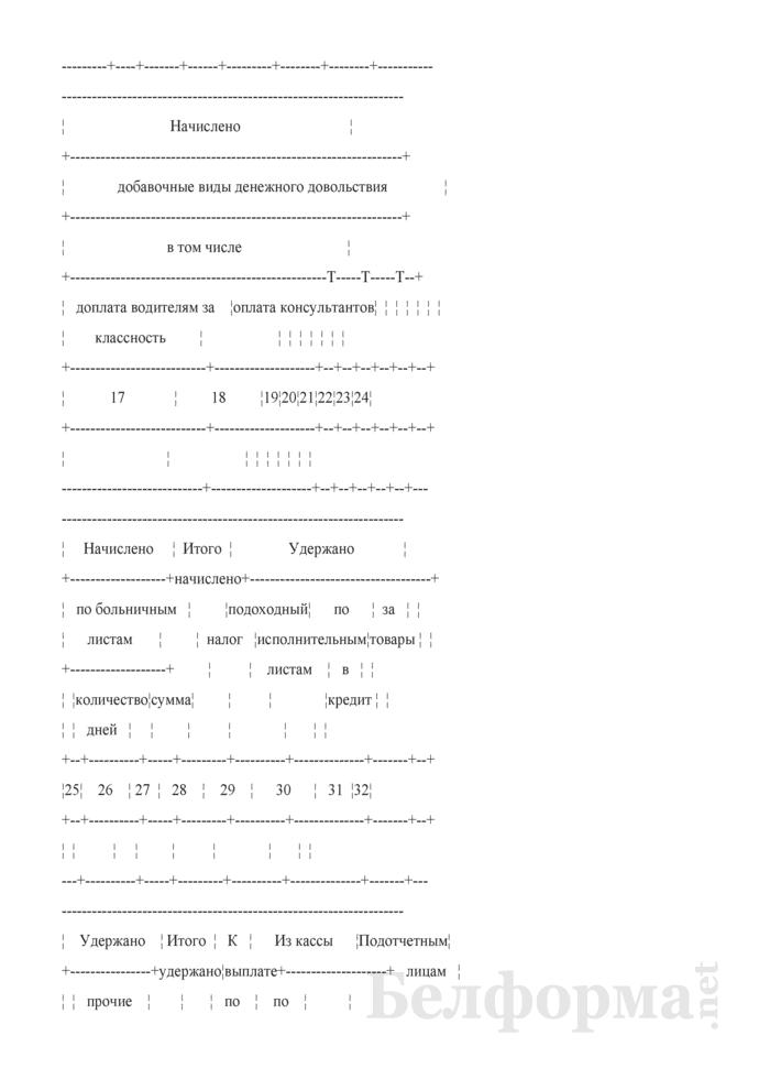"""Разработочная таблица № 1 """"Сводка расчетов по денежному содержанию штатного персонала, содержащегося за счет статьи 1 сметы бюджета и прочих статей сметы"""". Страница 3"""