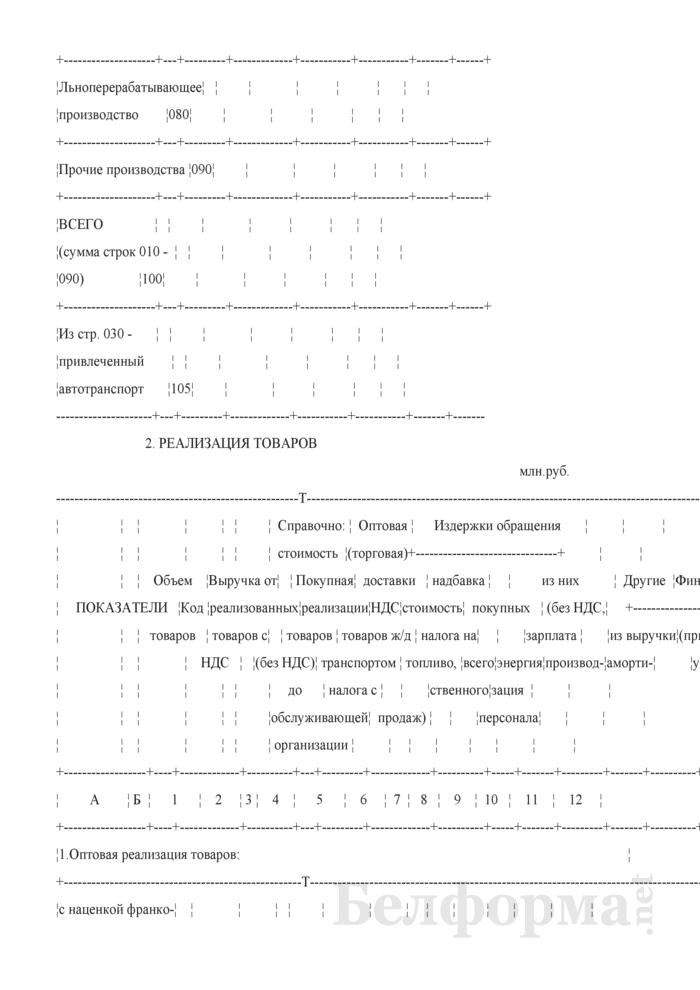 Реализация товаров, продукции, работ и услуг (форма 33-АПК). Страница 3