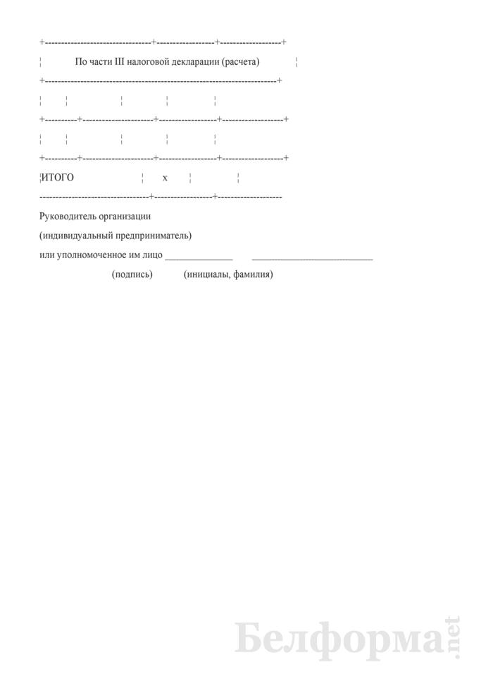 Справка о размере и составе использованных льгот по налогу за добычу (изъятие) природных ресурсов. Страница 2