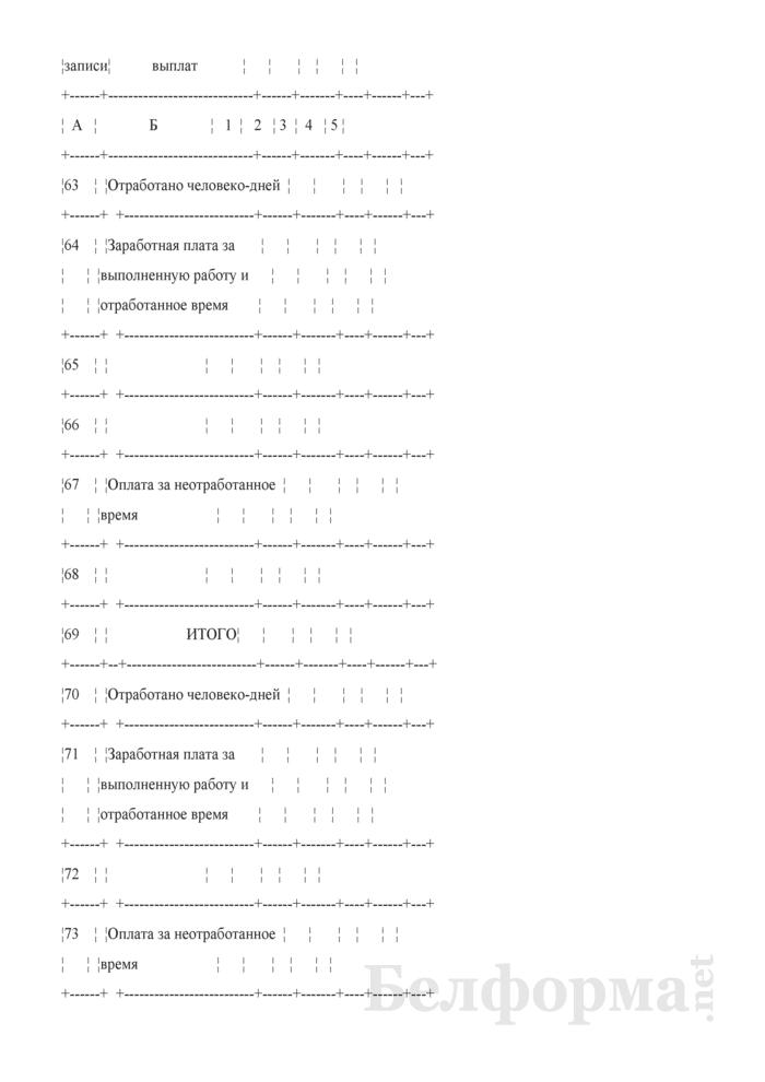 Сводная ведомость начисленной оплаты труда по ее составу и категориям работников. Форма № 58-АПК. Страница 11