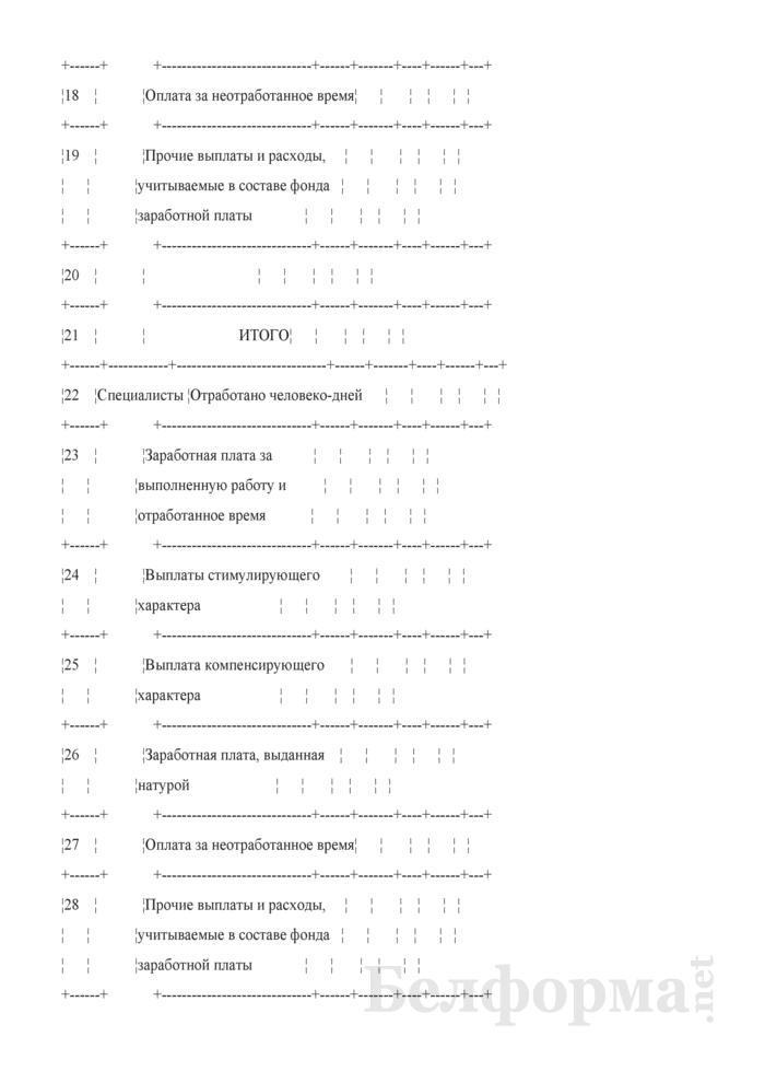 Сводная ведомость начисленной оплаты труда по ее составу и категориям работников. Форма № 58-АПК. Страница 3