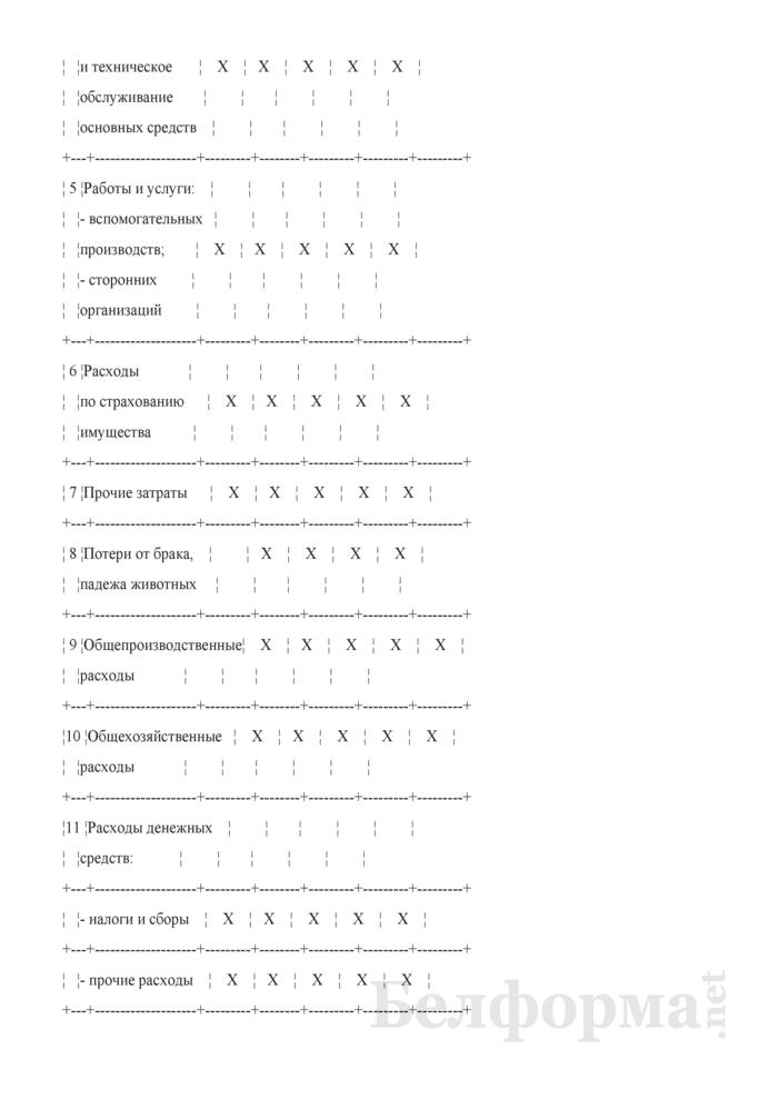 Типовая номенклатура калькуляционных статей производственных затрат в сельскохозяйственных организациях. Страница 4