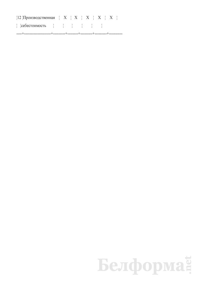 Типовая номенклатура калькуляционных статей производственных затрат в сельскохозяйственных организациях. Страница 5