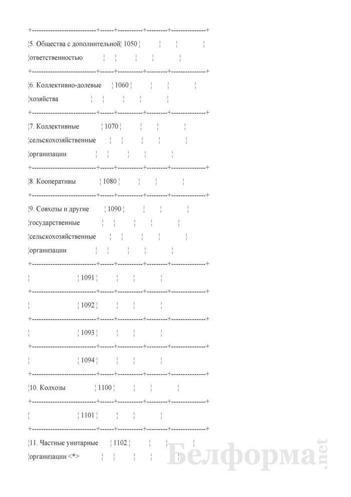 Титульный лист сводного отчета предприятия (организации). Страница 2