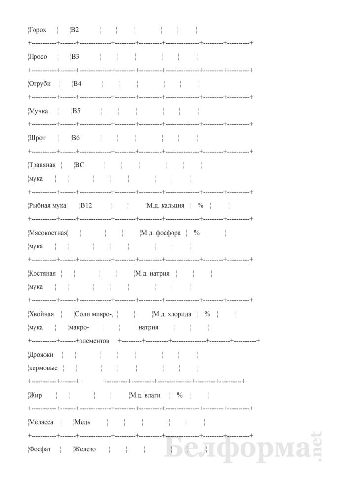 Удостоверение о качестве комбикорма, БВМД (Форма № ЗПП-43). Страница 2