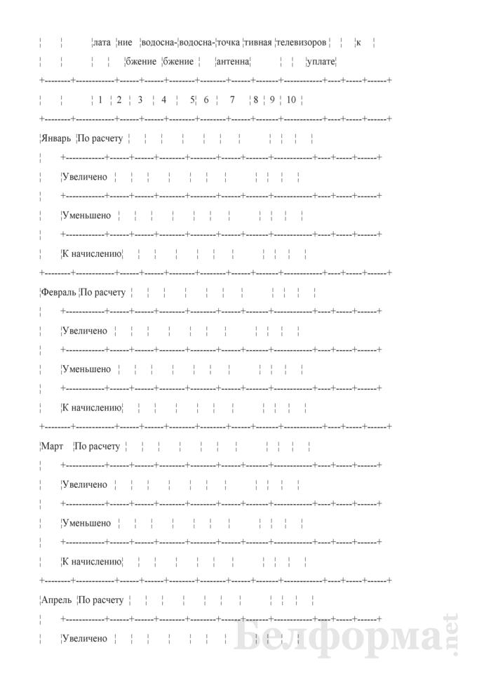 Ведомость аналитического учета расчетов с квартиросъемщиками (субсчет 76-6). Форма № 40-АПК. Страница 5