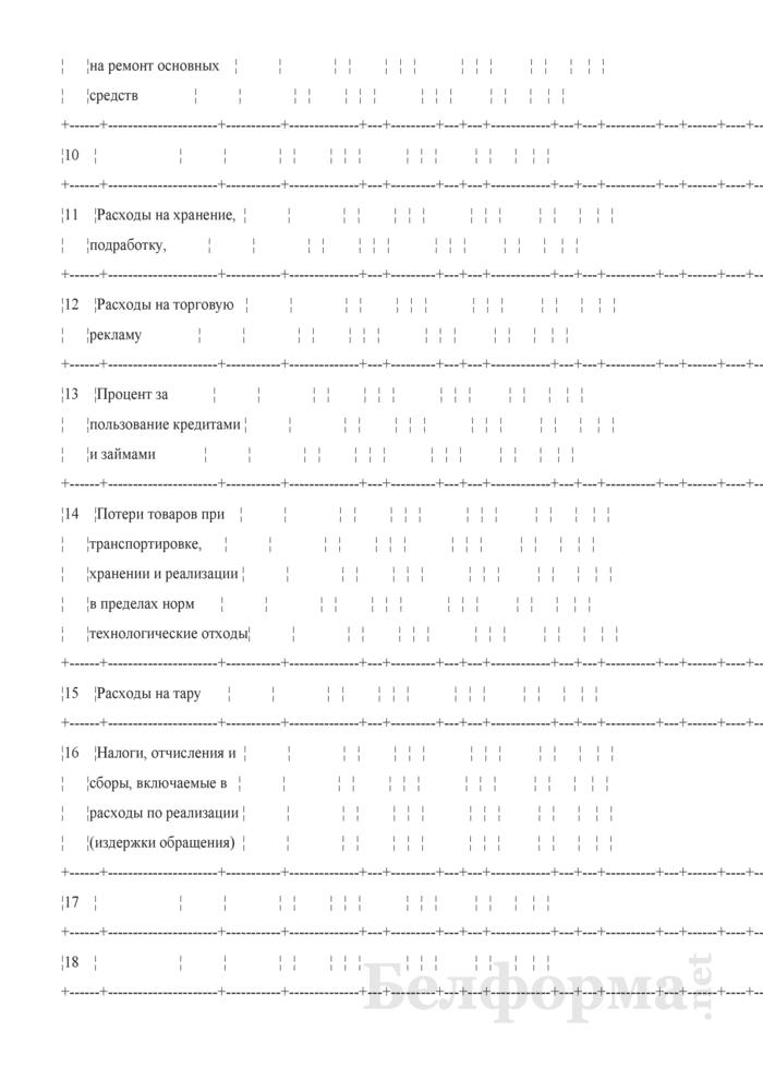 Ведомость аналитического учета расходов по реализации (издержек обращения). Форма № 51-АПК. Страница 3