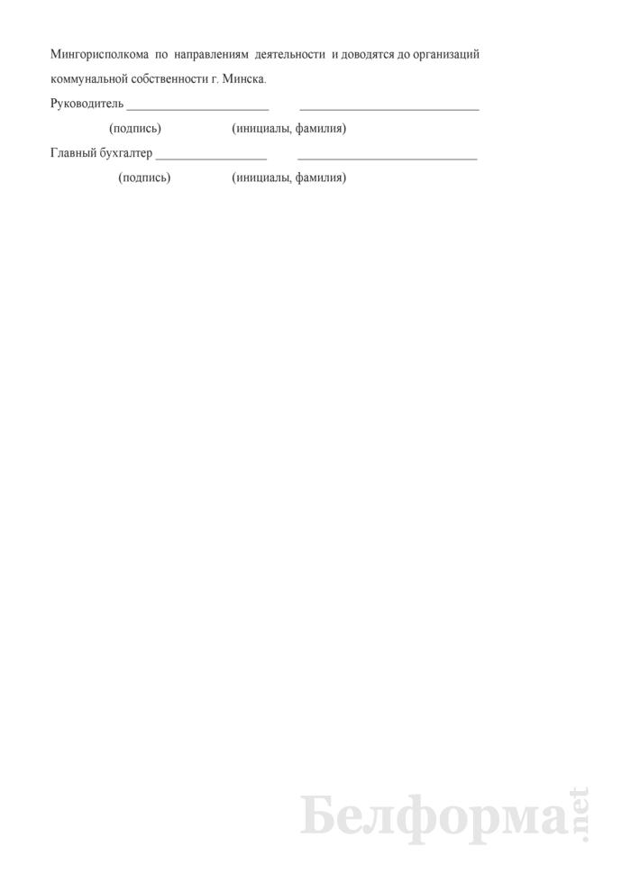 Выполнение показателей финансово-хозяйственной деятельности (для г. Минска). Страница 3