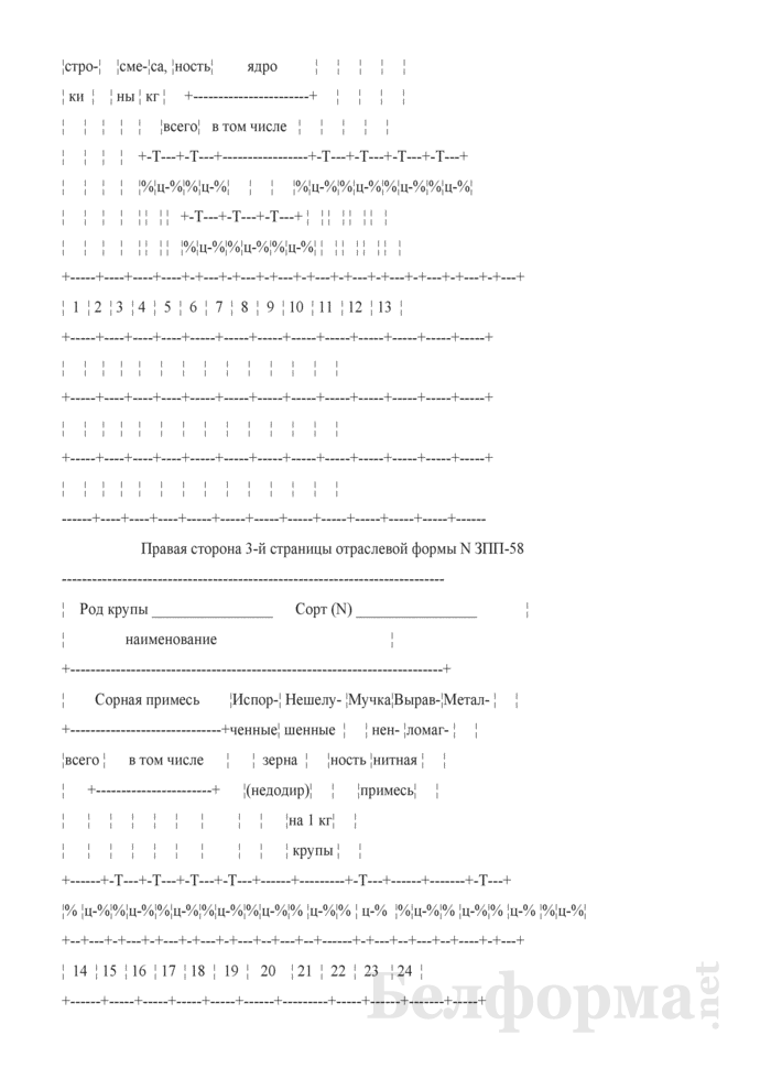 Журнал расчета средневзвешенных показателей качества по крупяным заводам (Форма № ЗПП-58). Страница 4