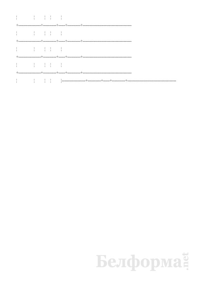 Журнал сменного мастера о работе комбикормового цеха (Форма № ЗПП-120). Страница 6
