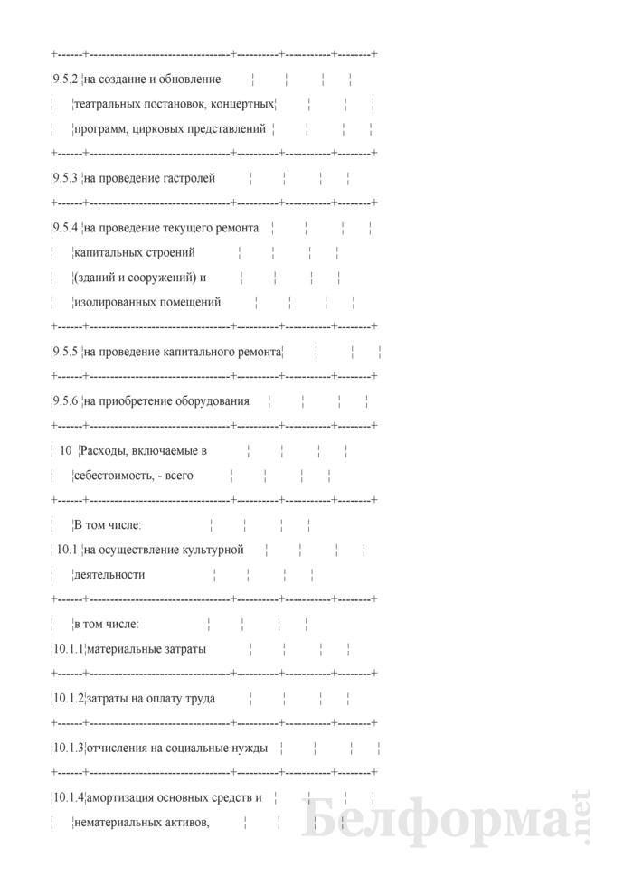 Данные об основных показателях, доходах и расходах (Таблица 1). Страница 4