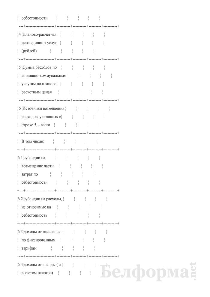 Расчет по источникам возмещения расходов по обслуживаемому организациями системы Министерства жилищно-коммунального хозяйства Республики Беларусь жилищному фонду. Страница 2