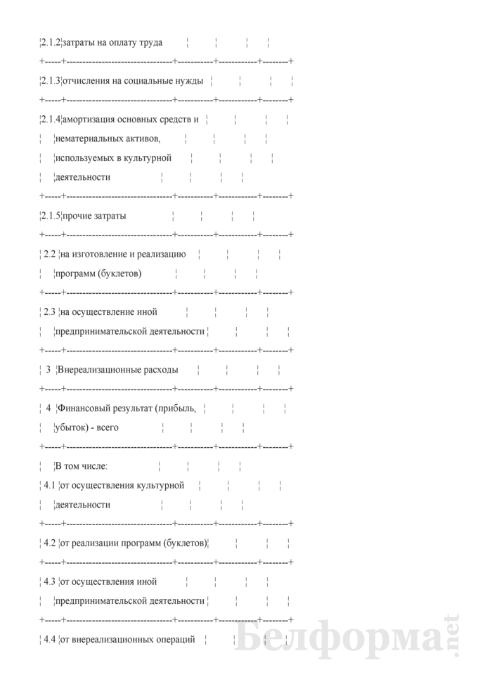 Сводные данные о доходах и расходах (Таблица 1). Страница 3