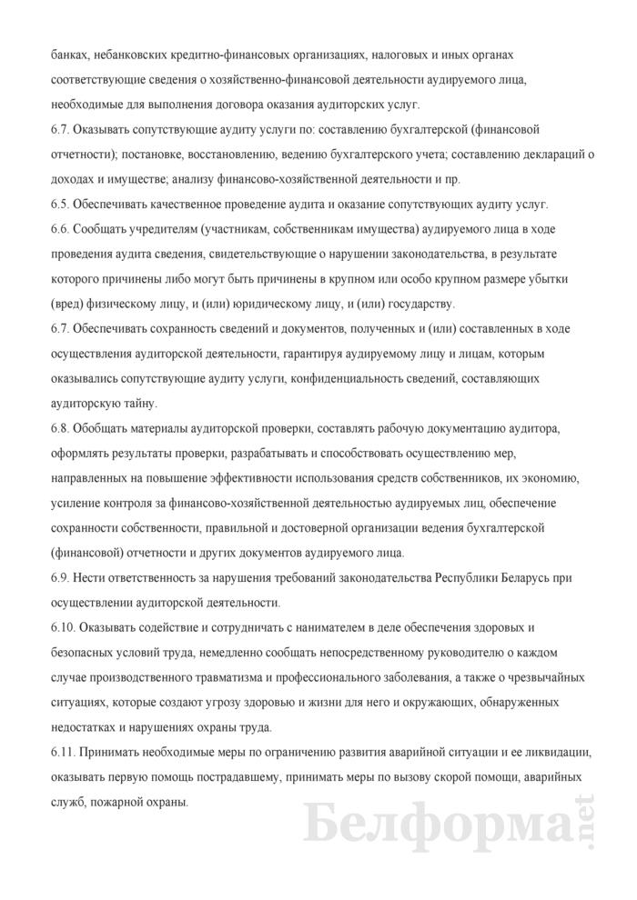 Должностная инструкция аудитору. Страница 3