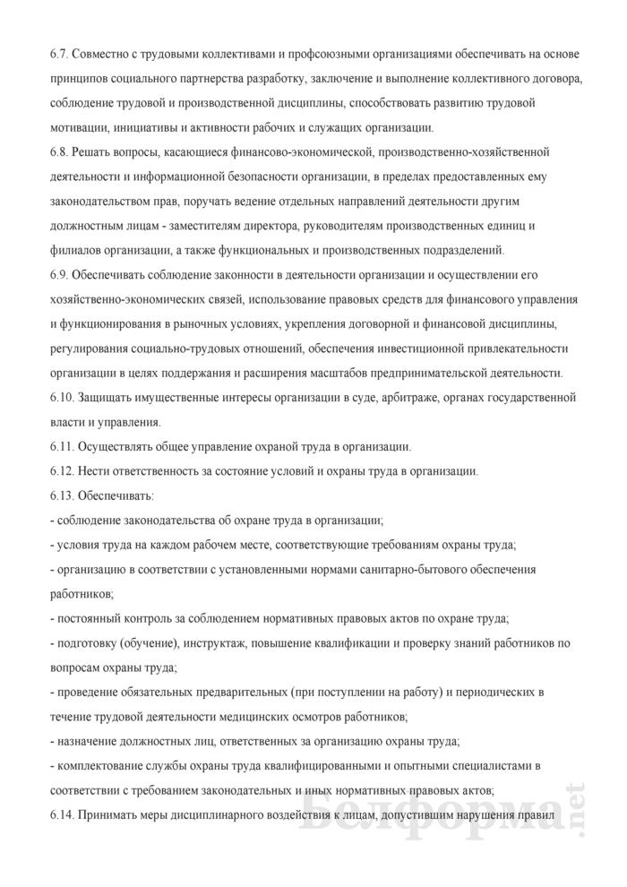 Должностная инструкция директору (генеральному директору, заведующему, начальнику, управляющему). Страница 4