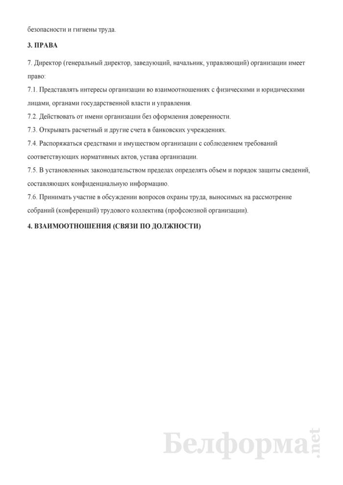 Должностная инструкция директору (генеральному директору, заведующему, начальнику, управляющему). Страница 5