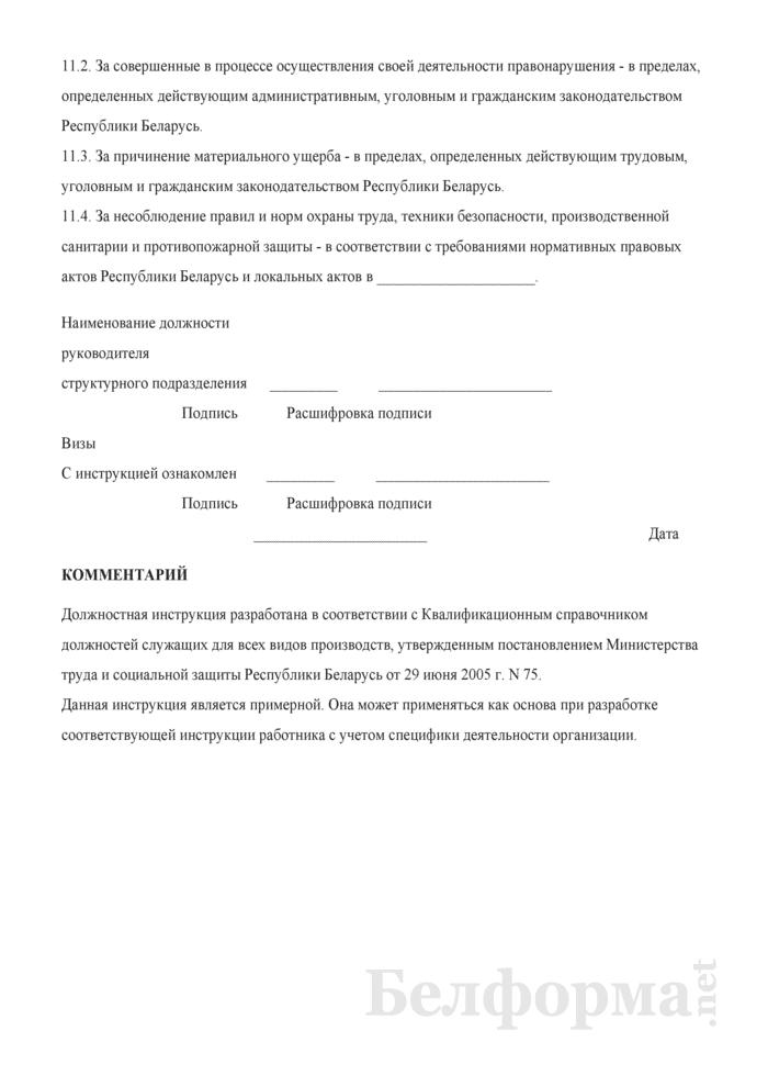 Должностная инструкция экономисту вычислительного (информационно-вычислительного) центра (ВЦ, ИВЦ). Страница 5