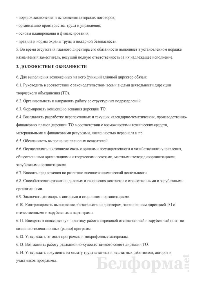 Должностная инструкция главному директору (директору). Страница 2