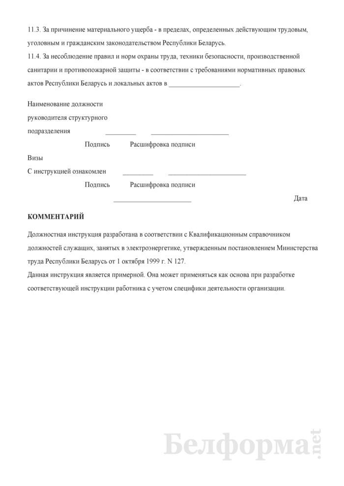 Должностная инструкция начальнику энергоинспекции. Страница 5