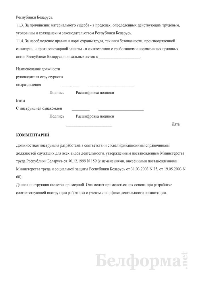 Должностная инструкция ревизору. Страница 5