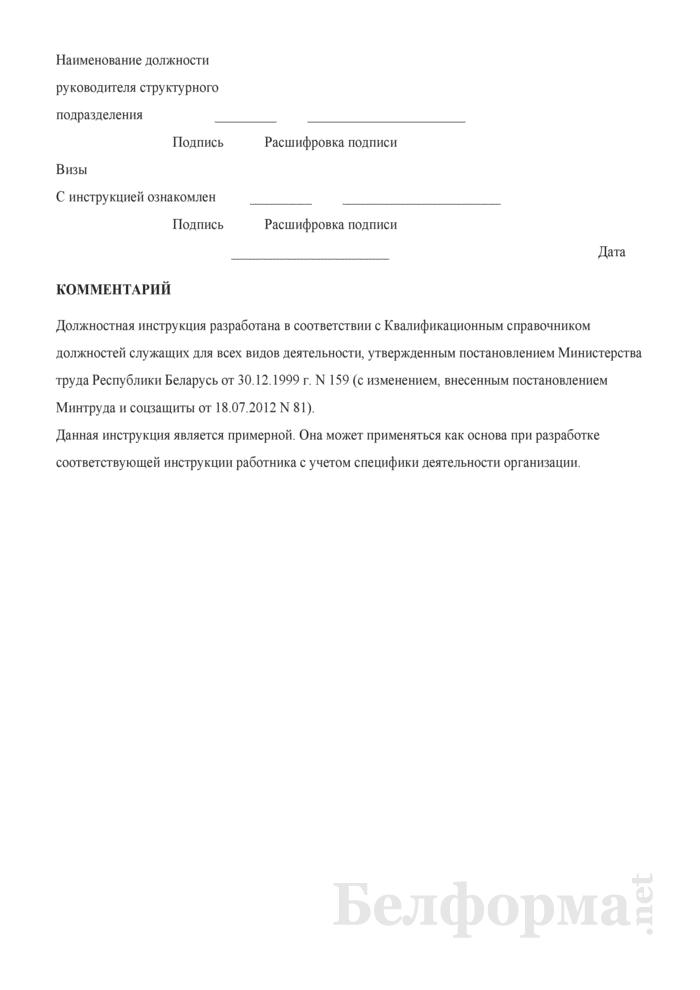 должностная инструкция механик рмм