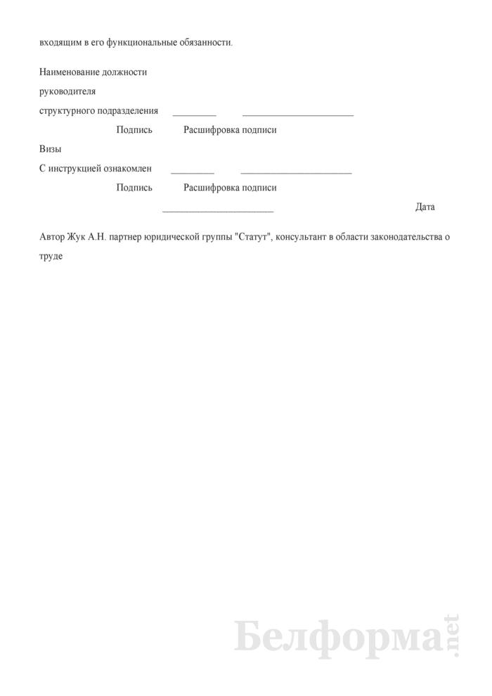 Должностная инструкция заместителя директора по информационным технологиям. Страница 6