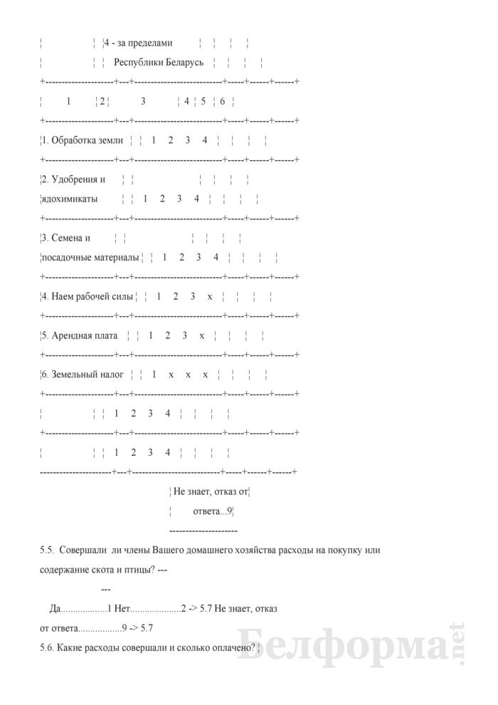 Ежеквартальный вопросник по расходам и доходам домашних хозяйств (Форма 4-дх (вопросник) (квартальная). Страница 21