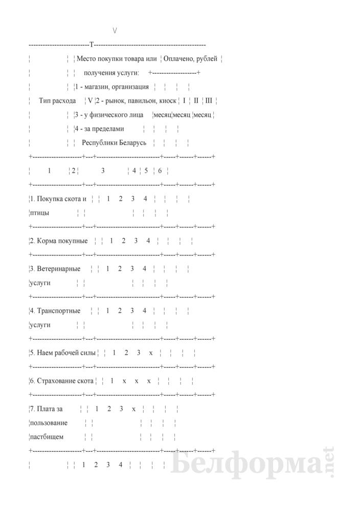 Ежеквартальный вопросник по расходам и доходам домашних хозяйств (Форма 4-дх (вопросник) (квартальная). Страница 22
