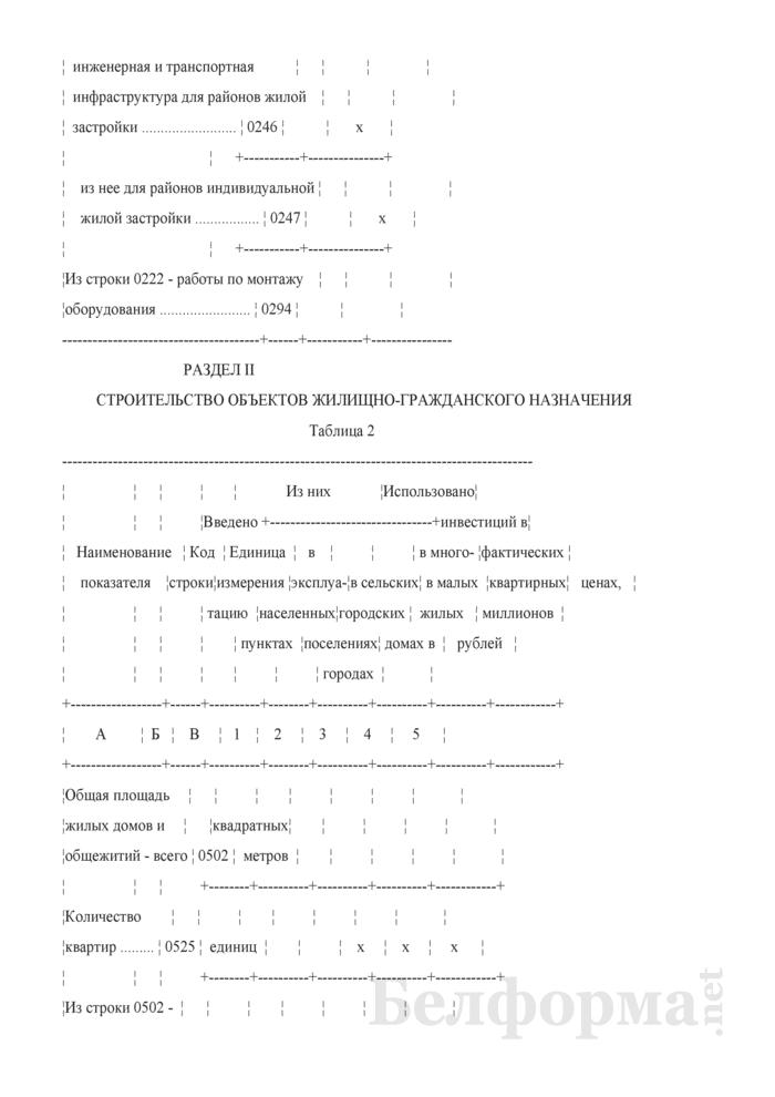 Отчет о вводе в эксплуатацию объектов, основных средств и использовании инвестиций в основной капитал (Форма 6-ис (инвестиции) (8 раз в год) (срочная)). Страница 4