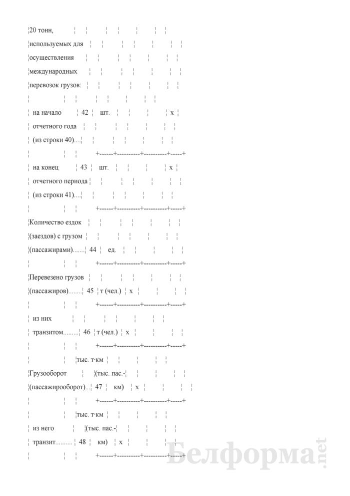 Отчет о международных автомобильных перевозках (Форма 4-тр (международные) (Минтранс) (квартальная)). Страница 9