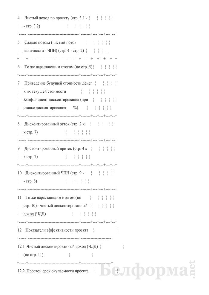 Расчет чистого потока наличности и показателей эффективности проекта (при разработке бизнес-планов инвестиционных проектов). Страница 2