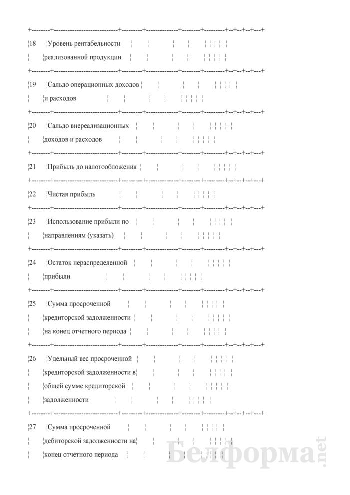 Основные показатели развития коммерческой организации на очередной год (для коммерческих организаций коммунальной собственности города Минска, негосударственных коммерческих организаций, акции (доли) которых принадлежат городу Минску). Страница 4